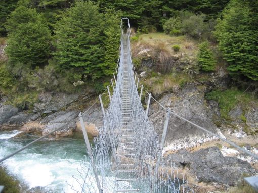 Bridge over the Mararoa River, near KiwiBurn.